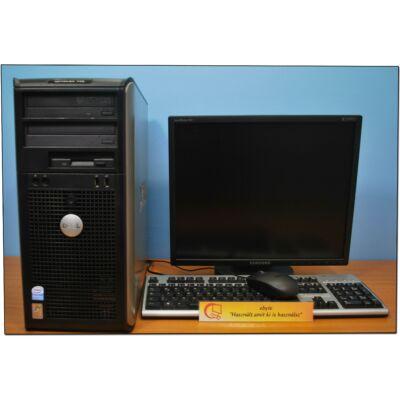 """DELL Optiplex 745 Core2 E6300 2x1860MT& ATI HD3470 +19"""" LCD"""