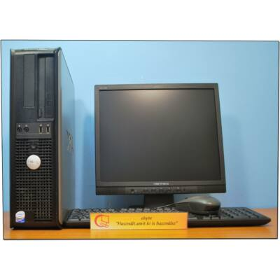 """DELL Gx360 Core2 E7300 2x2660DT& ATI HD3470+ 17"""" LCD"""