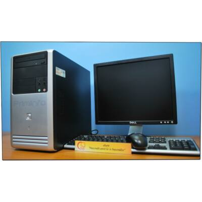 "Asus Xeon X3430 4x2400MT (I5)& GeForce 605 1G + 17"" LCD"