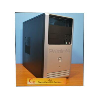 Primeinfo torony fekete-ezüst számítógépház