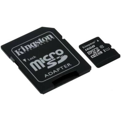 Kingston 16GB Micro SD memória CL10 ÚJ