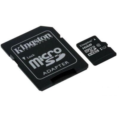 Kingston 16GB Micro SD HC memória CL10 ÚJ