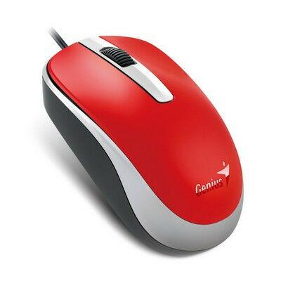 GENIUS DX-120 USB optikai egér piros 1200dpi ÚJ