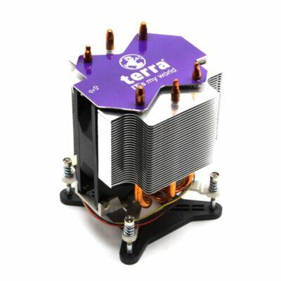 Terra s1155-s1156 használt CPU cooler (bepattintós) rézmagos