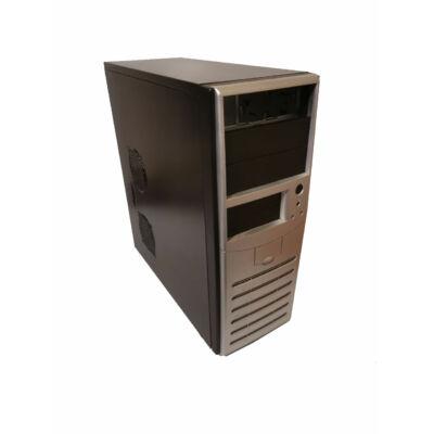 Torony fekete-ezüst számítógépház