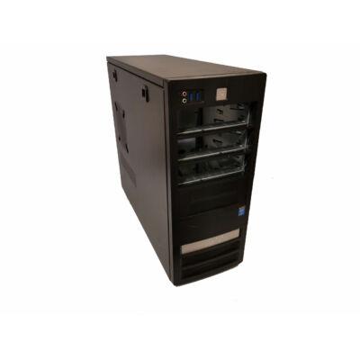 Tarox torony fekete-ezüst számítógépház USB3 Fornt