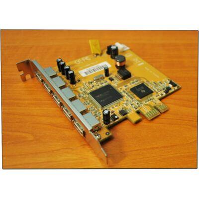 PCI-e 1x USB kártya 5 kimenet