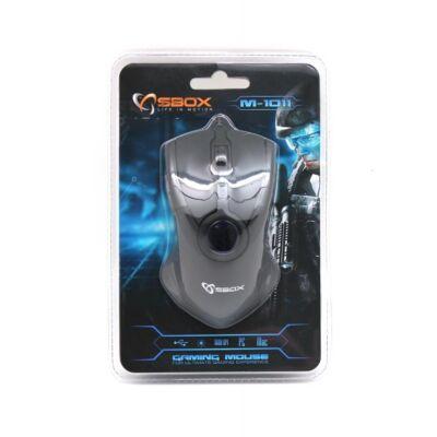 SBOX M-1011 1600 dpi USB optikai egér (GAMER) ÚJ