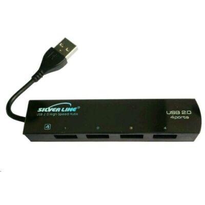 USB HUB 2.0 4 portos Silverline ÚJ