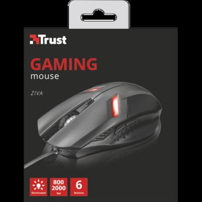 Trust Ziva 2000 dpi GAMER egér, új