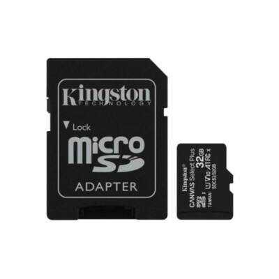 MICRO SD CARD 32GB KINGSTON CL10 A1 adapterrel SDCS2/32GB