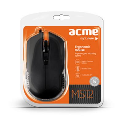 ACME MS12 USB optikai egér 2400dpi ÚJ