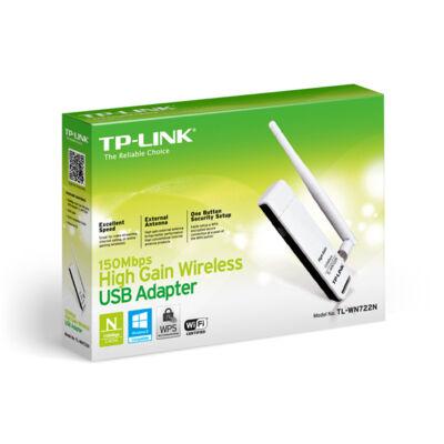 TP-Link WN722N+ ant. USB Wifi vevő ÚJ