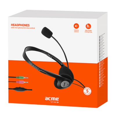 Acme CD602 Mikrofonos fejhallgató ÚJ