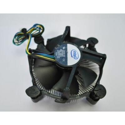 Intel s1155-s1156 használt CPU cooler (bepattintós) rézmagos